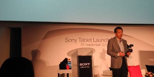 Launch of the Sony Tablet S in Singapore