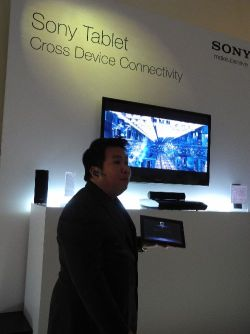 Demonstrating the DLNA video capabilities of the Sony Tablet S