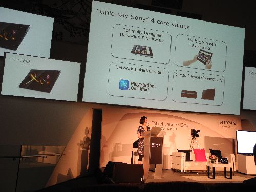 The key design principals behind the Sony Tablet S