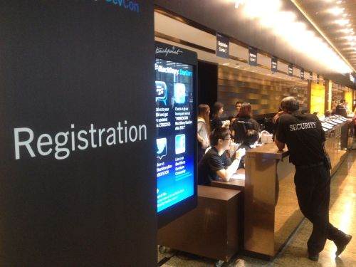 Registration counter