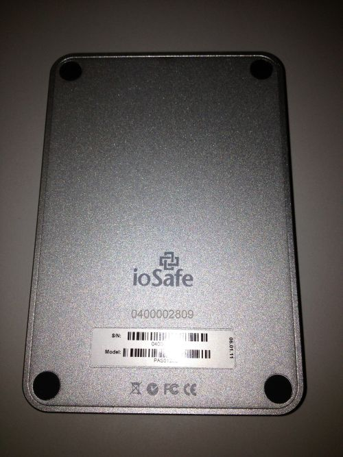 Back view of the Rugged Portable SSD