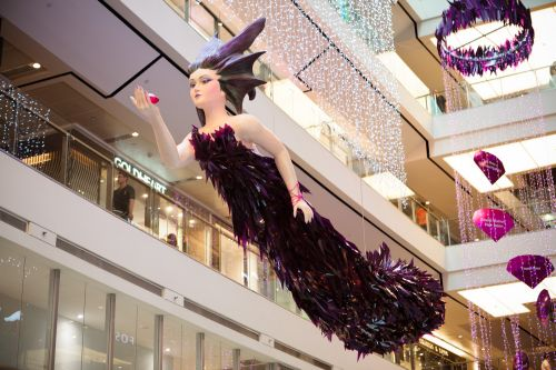 The Fashion Dragon installation located at the atrium of 313@somerset