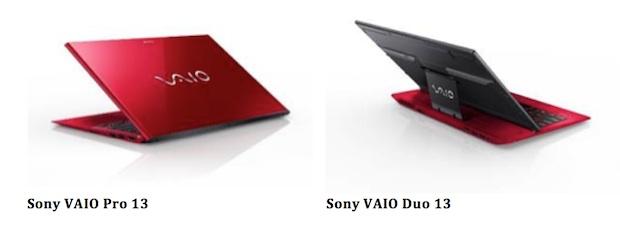 Sony VAIO Pro 13, Duo 13