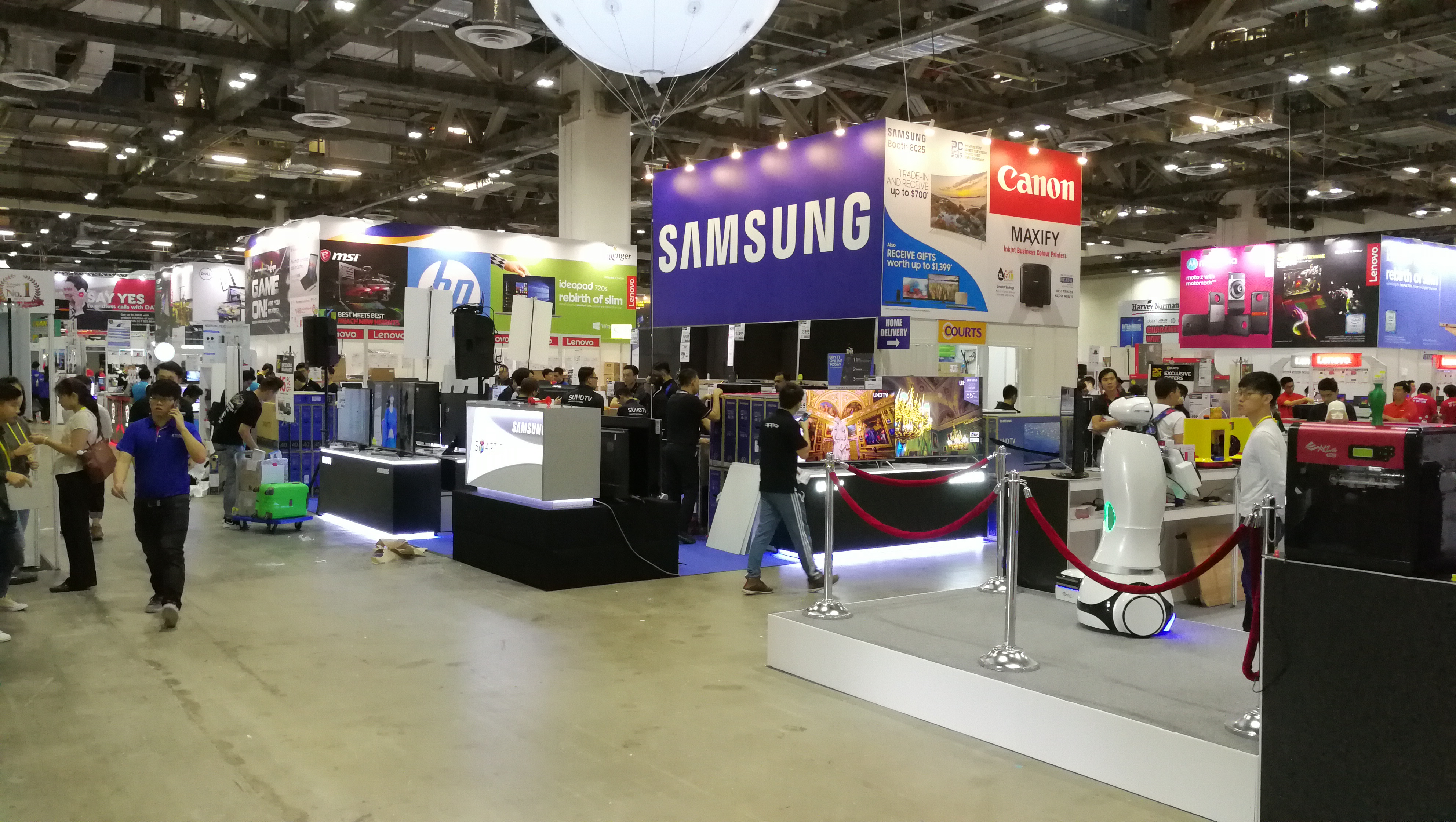 The main hall of PC Show 2017 at MBS